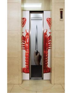 Get the lobster-Creative elevator ads