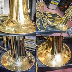 Débosselage Tuba Couesnon / Dent removal from Couesnon tuba Instruments, Band, Music, Musical Instruments, Bands, Orchestra, Tools
