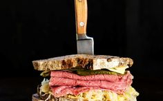 Van de Reuben sandwich recipe - By New Zealand Woman's Weekly, The strong, tart flavours in the sauerkraut and silverside give the everyday sandwich a real zing!
