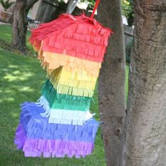 Save yourself a ton of money and make your own Pinata! You can customize yours with whatever you want on the inside too!