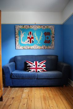Union Jack - the sign says it all... I LOVE THIS ROOM! Heather Scott