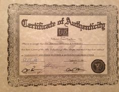 CertificateOfAuthenticityJpg   Certificates Of