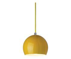 Lampadario in alluminio Kolor giallo