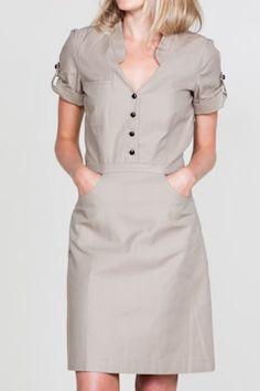 Need Emersonmade Trench Dress! Safari Dress, Casual Dresses, Dresses For Work, Safari Chic, Trench Dress, Khaki Dress, Super Cute Dresses, Looks Vintage, Look Chic