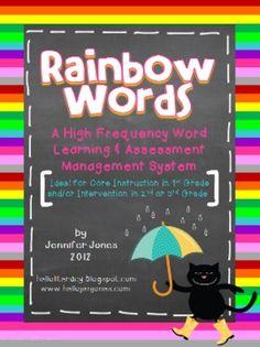 Rainbow Words: A High Frequency Word Learning & Assessment System - Jen Jones (Hello Literacy) - TeachersPayTeachers.com
