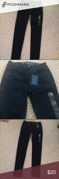 AMERICAN EAGLE DENIM dark wash jeggings BRAND NEW WITH TAGS American Eagle Denim dark wash super stretch jeggings American Eagle Outfitters Jeans Skinny