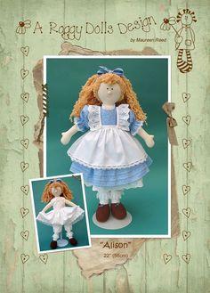 Alison Rag Doll Pattern