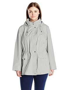 Weathertamer Women's Plus-Size Water Resistant Anorak,Sea Salt,3X *** Read more reviews of the product by visiting the link on the image.