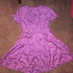 Sexy Flowy Mini Babydoll Dress. Pretty Purple Dress with Small Floral Print. Accentuates the Waist and Enhances the Breast! Light Silky Material, Zips Along the Side. Worn Once. Urban Outfitters Dresses Mini