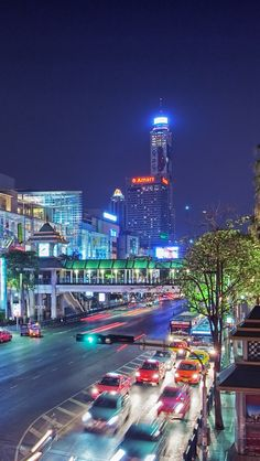 An awesome night view of #Bangkok city, #Thailand