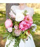 Peony Rose Wedding Bouquet in Pink | Wedding Flowers | Easy Return Policy