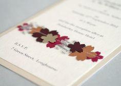 Autumn Jewels wedding invitation