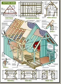 Man cave or woman cave or just a time out shed for for Potting shed plans free