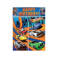 Hot Wheels Wall Decoration Kit (Each) - Party Supplies