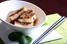 easy sauteed tofu with a delicious sesame glaze (that also goes great with veggies & noodles)