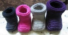Striped Knitted Baby Booties Free Pattern