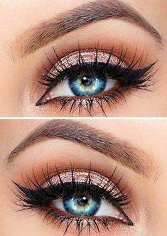 Makeup Fleek   Rose Gold   Feline Liner   Lashes