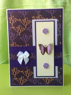 purple layout butterfly card by Bethany Looijenga
