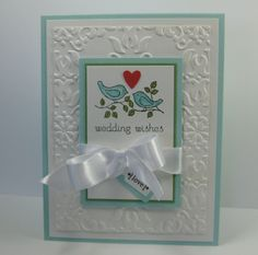 Sweet and Simple Wedding card.