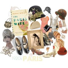 Inspired by The Paris Wife - A set inspired by Paula McLain's gorgeous novel about Ernest Hemingway's first marriage to Hadley Richardson during the in Paris. Hadley Richardson, The Paris Wife, Great Books, Book Worms, 1920 Style, Flapper Girls, Novels, Style Inspiration, Inspired