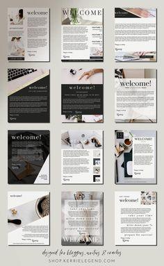 Canva Template Lead Magnet Bundle - Classic Boss Lady Design - Matching Elementor Available - eBook, Workbook, Checklists, Social Media Website Design Inspiration, Design Blog, Layout Design, Logo Design, Graphic Design, Design Design, Design Trends, Street Marketing, Design Thinking