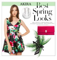 """""""AKIRA"""" by amra-mak ❤ liked on Polyvore featuring H&M, Steve Madden, Alexander McQueen and shopakira"""