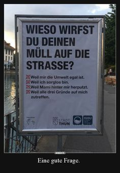 Eine gute Frage... | Lustige Bilder, Sprüche, Witze, echt lustig Feeling Happy, Man Humor, Worlds Of Fun, Inner Peace, Faith Quotes, Really Funny, Vignettes, Picture Quotes, Cool Words
