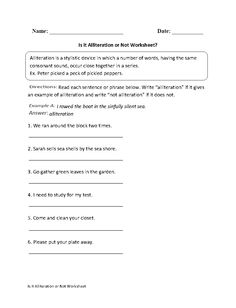 Creating Alliteration Worksheet  Places to Visit  Pinterest