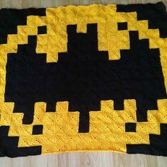 Batman logo pixel crochet  blanket by mor_morice