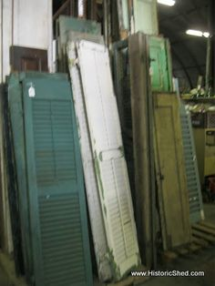 Salvaged Shutters