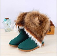 2013 high leg boots genuine leather snow boots fashoin winter women's shoes-inBoots from Shoes on Aliexpress.com