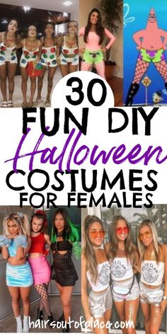 Halloween costumes for girls in college. Fun and easy DIY costume ideas for parties and more.