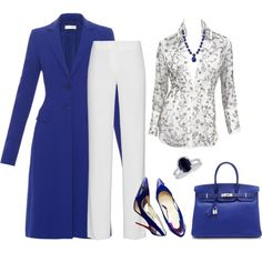 outfit 3068 by natalyag on Polyvore featuring Dolce&Gabbana, Altuzarra, DKNY, Christian Louboutin, Hermès, Michael Barin, women's clothing, women's fashion, women and female