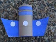 nápady pro děti dopravní prostředky - Hledat Googlem Toddler Arts And Crafts, Easy Crafts For Kids, Summer Crafts, Diy For Kids, Ocean Theme Crafts, Sea Crafts, Diy Crafts For Gifts, Toilet Roll Craft, Toilet Paper Roll Crafts