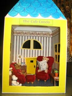 DIY dollhouse with build a bear box