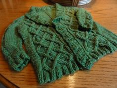 """Gramps Cardigan"" for a small child"