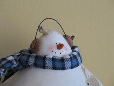 Snowman Gourd with Acorn Earmuffs