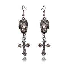 Ztech Rock Punk Gothic Vintage Rhinestones Jewelry Cross Skeleton Drop  Earrings For Women Brinco Masculino Halloween Gifts ae5f50af45f6