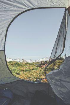 man-and-camera: Camping.