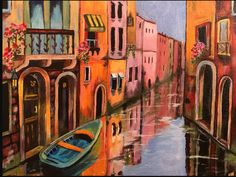 Venice by Nicole Nappi. This stunning piece was inspired by a lesson from our 'wave and water masterclass' www.gingercooklive.gallery