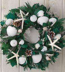 Winter Seashells Wreath Coastal Decor: ...