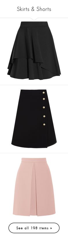 """Skirts & Shorts"" by caroovargas ❤ liked on Polyvore featuring skirts, mini skirts, bottoms, faldas, юбки, black, frilled skirt, short frilly skirt, frill skirt and short mini skirts"