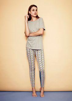 Organic cotton patterned leggings // Shift To Nature