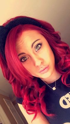 Bright red hair !!!