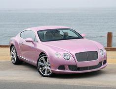 Pink 2012 Bentley Continental GT