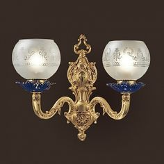 Бра F.B.A.I./Tiche (Италия): сатиновое стекло; цвет покрытия золото, продажа в Москве, артикул A3150/2