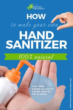 How to Make Your Own Natural Hand Sanitizer - 3 Ingredients Cold Home Remedies, Flu Remedies, Thuja Oil, Natural Hand Sanitizer, Mint Oil, Cinnamon Oil, Clove Oil, Healthy Diet Tips, Glass Spray Bottle