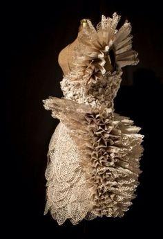 Carrie Ann Schumacher a romantic Novel paper dress
