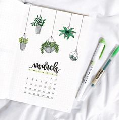 12 Gorgeous Bullet Journal Calendar Ideas - - As we approaching end of the year, it is time to refresh your bullet journal! These are monthly bullet journal calendar ideas that can inspired you on your. Bullet Journal With Calendar, March Bullet Journal, Bullet Journal Headers, Bullet Journal Cover Page, Bullet Journal Notebook, Bullet Journal Spread, Bullet Journal Inspo, Bullet Journal Layout, Journal Covers