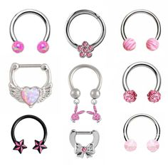 Septum Piercing Jewelry, Cool Piercings, Piercing Tattoo, Septum Piercings, Ear Jewelry, Cute Jewelry, Body Jewelry, Jewelry Accessories, Grunge Jewelry